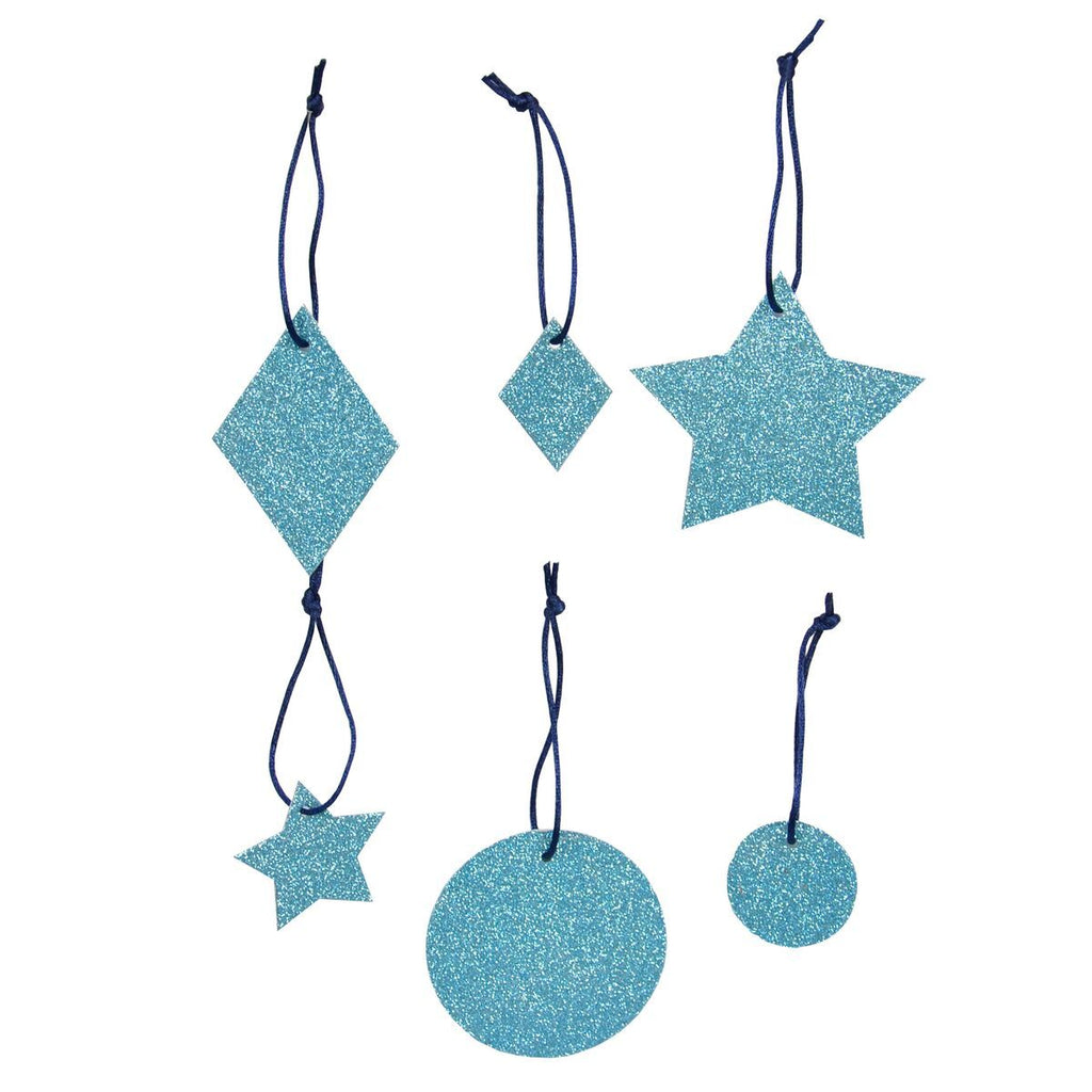 My Little Day - Sparkly Blue Glitter Decorations - MLD-PAGLGEOBL- The Original Party Bag Company