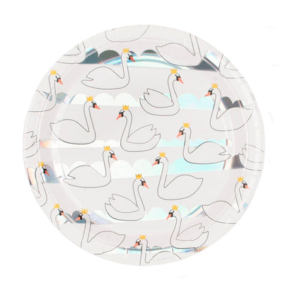 My Little Day - Swan Party Plates (Pk8) - mld-ascygne- The Original Party Bag Company
