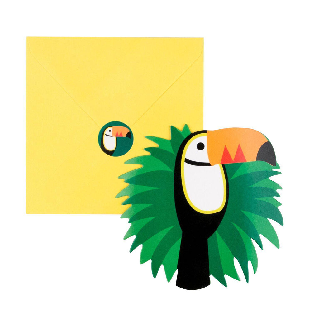 My Little Day - Toucan Party Invitations (Pk8) - mld-invit-touc- The Original Party Bag Company