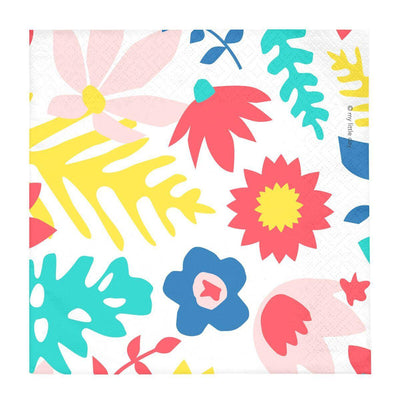 My Little Day - Tropical Flowers Napkins (Pk20) - MLD-SEFLETROP- The Original Party Bag Company