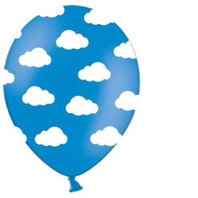 Party Deco - Blue Cloud Balloons (Pk5) - sb14p-230-001- The Original Party Bag Company