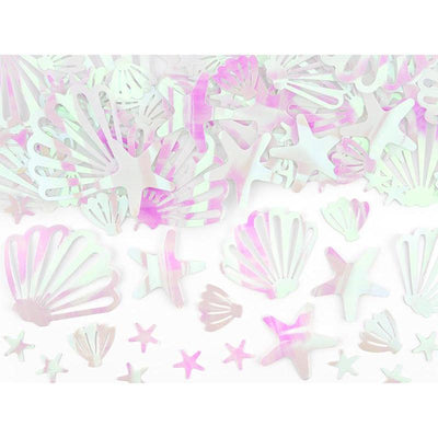 Party Deco - Iridescent Sea Shell Confetti - narwhalconfetti- The Original Party Bag Company