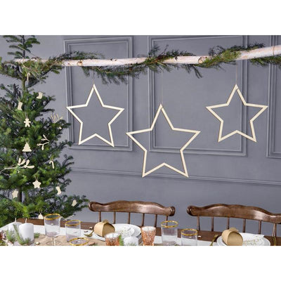 Party Deco - Star Hanging Decorations (Pk3) - ZDD4- The Original Party Bag Company