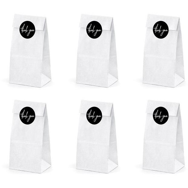 Party Deco - Thankyou Favor Bags (Pk6) - tns3-008- The Original Party Bag Company