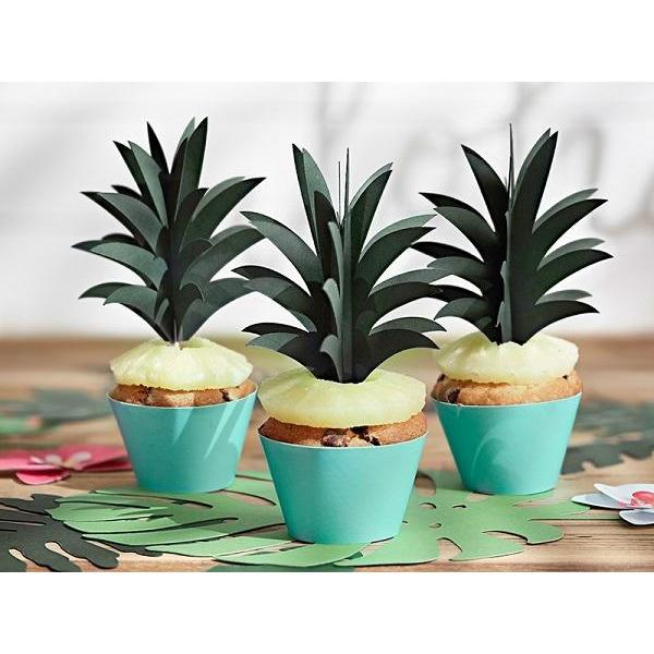 Party Deco - Tropical Aloha Cupcake Toppers (Pk6) - kpm18- The Original Party Bag Company