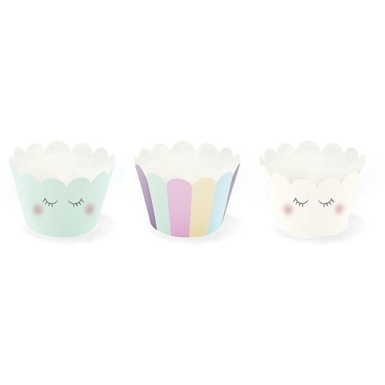 Party Deco - Unicorn Cupcake Cases (Pk6) - FM10- The Original Party Bag Company