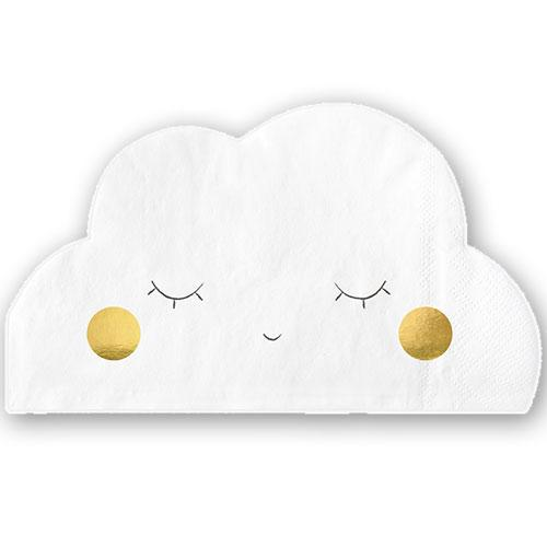 Party Deco - White Cloud Paper Napkins (Pk20) - SPK1- The Original Party Bag Company