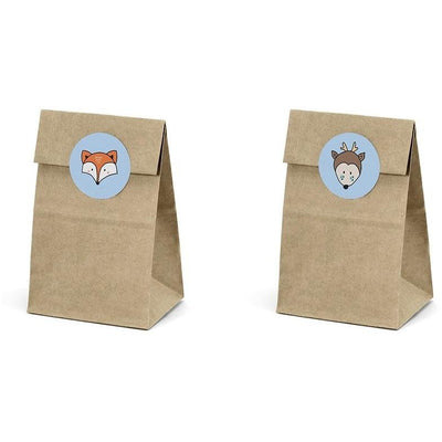 Party Deco - Woodland Treat Bags (Pk6) - TNS1- The Original Party Bag Company