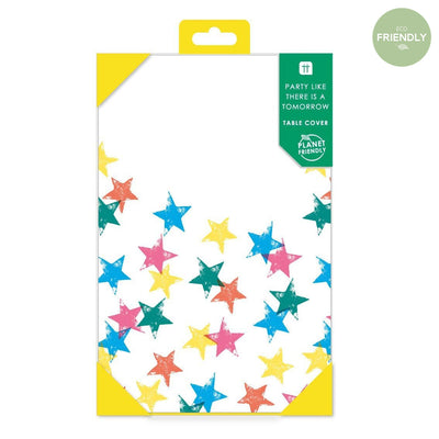 Rainbow Star Paper tablecover