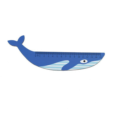 Rex London - Blue Whale Wooden Ruler - 28430- The Original Party Bag Company