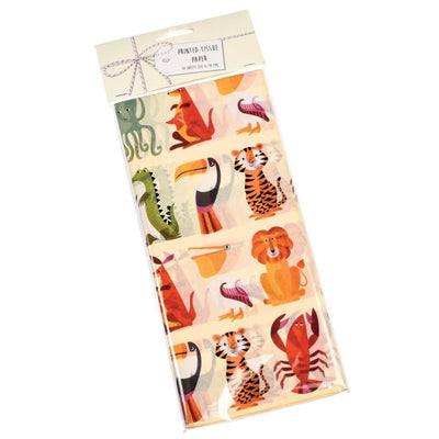 Rex London - Colourful Creatures Tissue Paper (10 Sheets) - 27190- The Original Party Bag Company