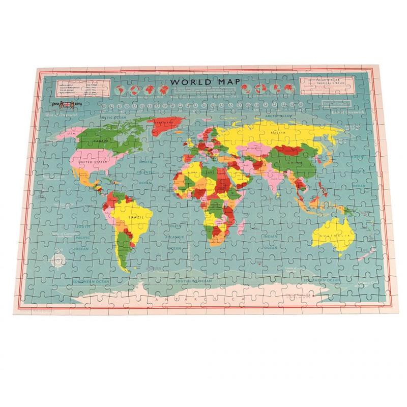 Rex London - World Map Puzzle In A Tube - 28156- The Original Party Bag Company