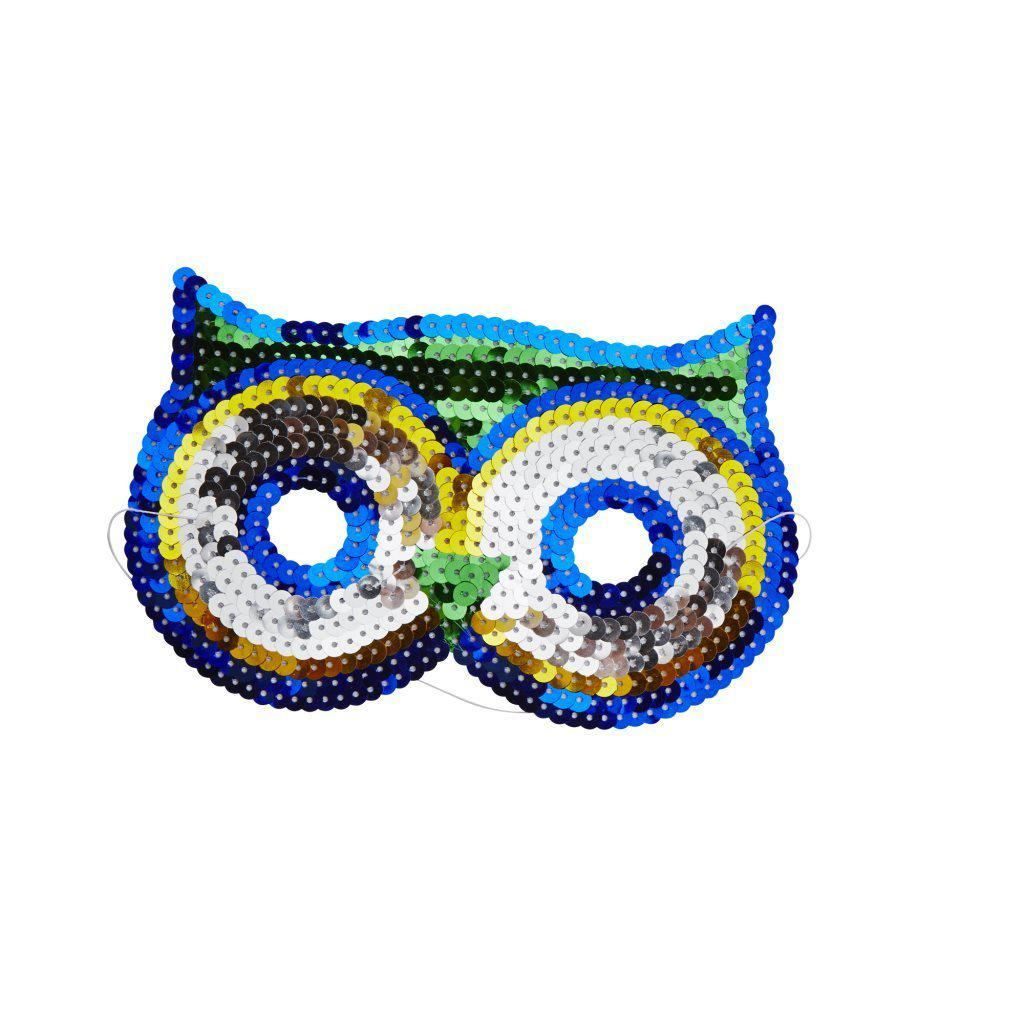 Rice Dk - Sequin Owl Mask - KIMAS-ANIXC-OWL- The Original Party Bag Company