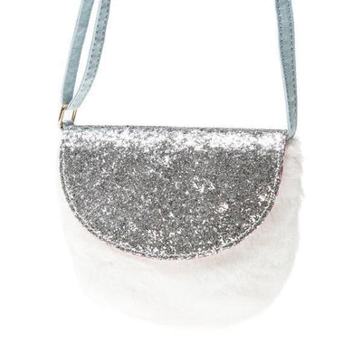 Rockahula - Faux Fur White Glitter Bag - g723w- The Original Party Bag Company