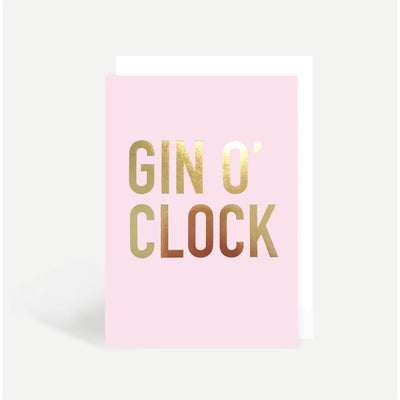 Sadler Jones - Gin O'Clock Card - m103- The Original Party Bag Company