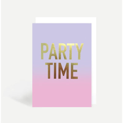 Sadler Jones - Ombre Party Time Card - m102- The Original Party Bag Company
