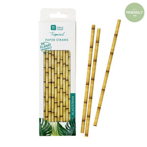Talking Tables - Bamboo Paper Straws (Pk30) - FST6-STRAW- The Original Party Bag Company