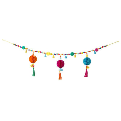 Talking Tables - Boho Pom Pom Garland - boho-fab-pomgarland- The Original Party Bag Company