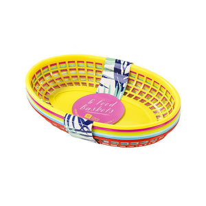 Talking Tables - Fiesta Food Baskets (Pk6) - fst4-basket- The Original Party Bag Company