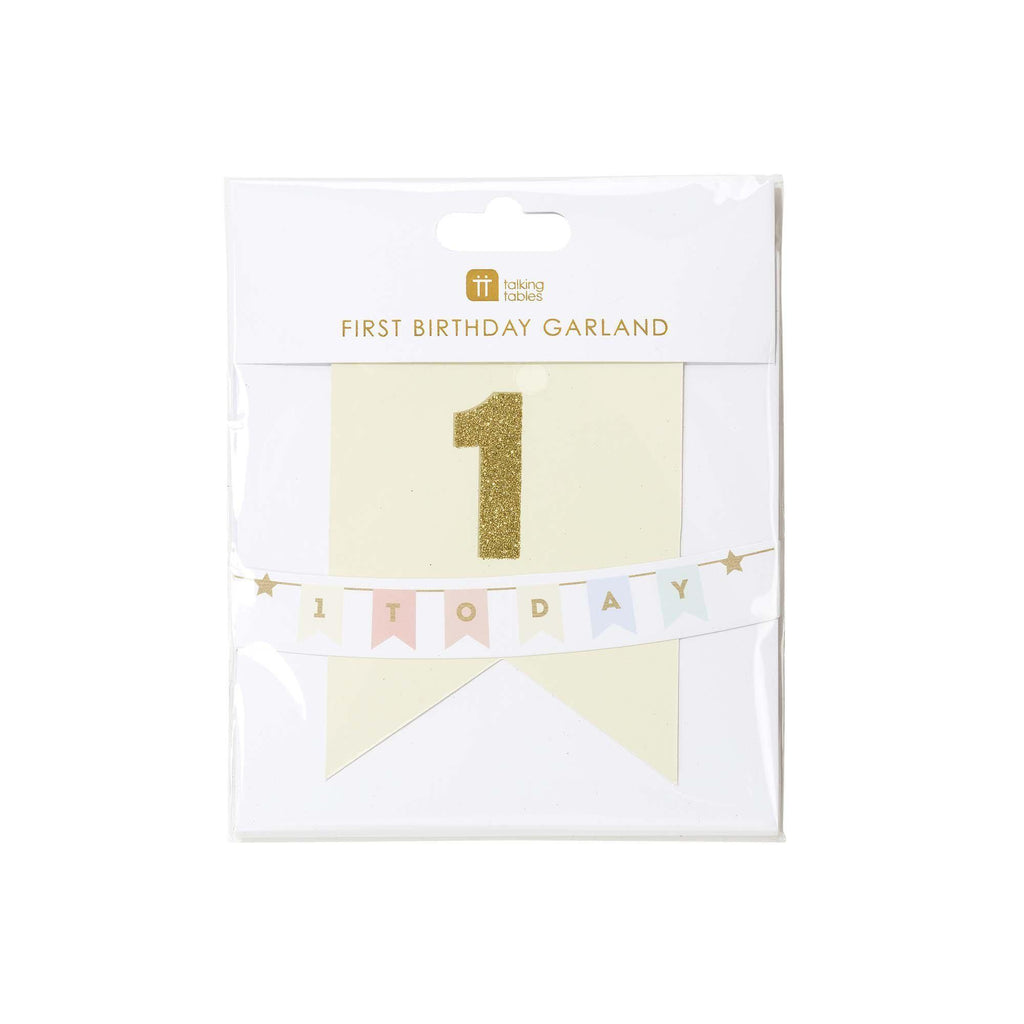 Talking Tables - First Birthday Garland - BDAY-GARLAND-ONE- The Original Party Bag Company