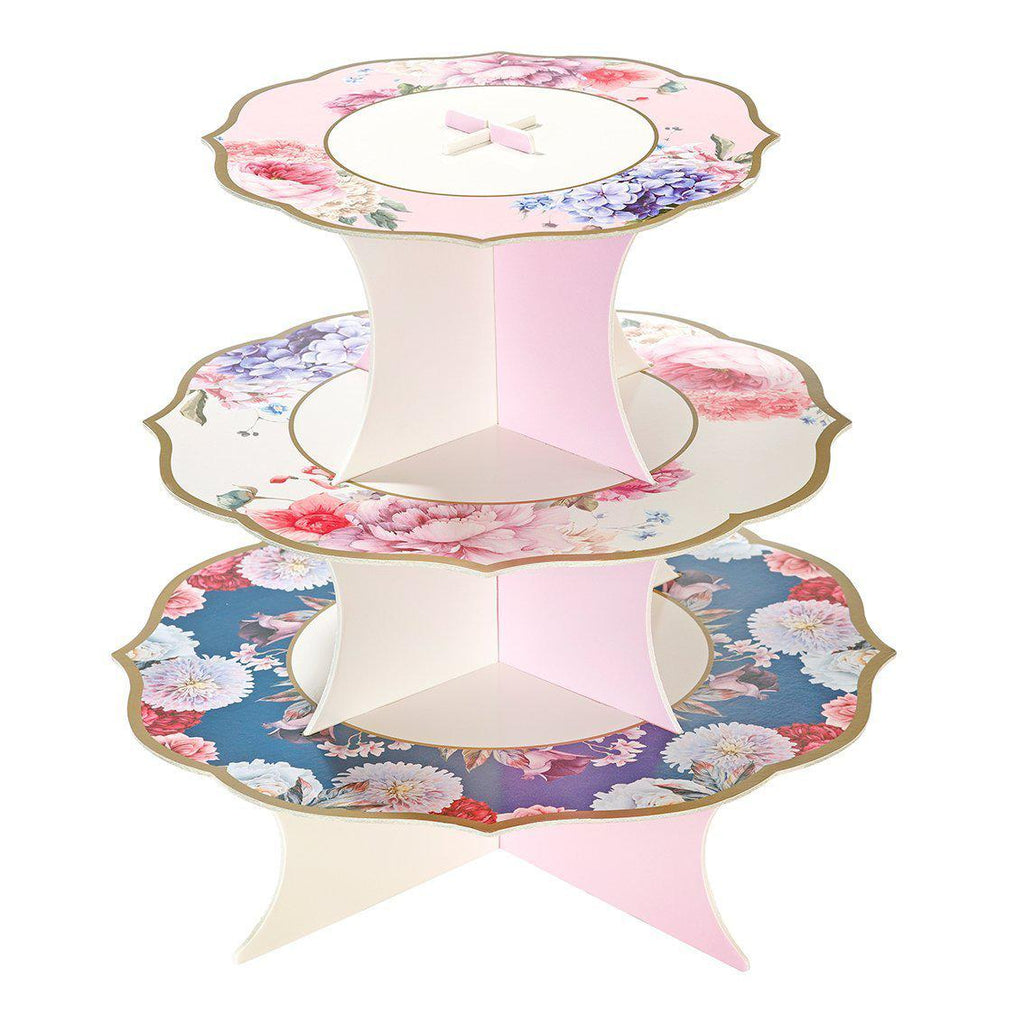 Talking Tables - Floral Cake Stand - TS8-CAKESTAND- The Original Party Bag Company