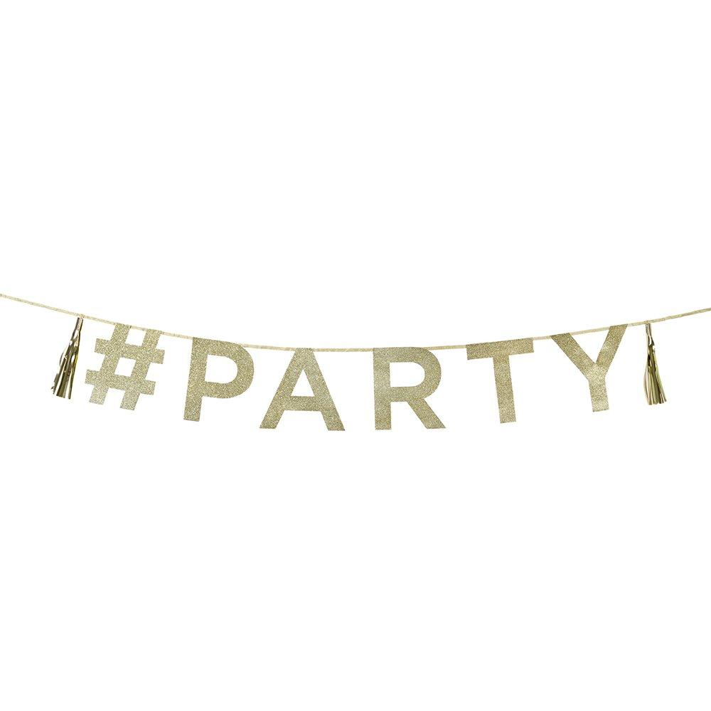 Talking Tables - Gold Hashtag Party Banner - SAY-PARTY- The Original Party Bag Company