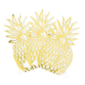 Talking Tables - Gold Pineapple Napkins (Pk12) - met-nap-pine-foil- The Original Party Bag Company