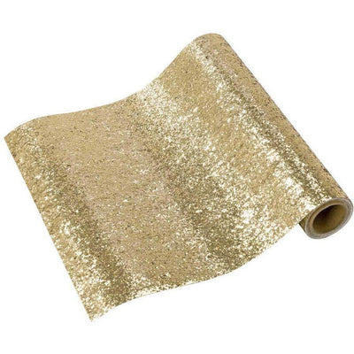 Talking Tables - Luxe Gold Glitter Table Cover - LUXE-RUN-GG- The Original Party Bag Company