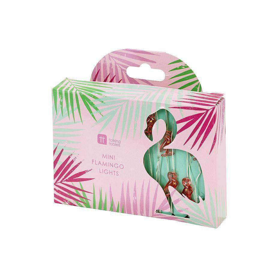 Talking Tables - Mini Flamingo Lights - FST4-LIGHT-FLAMNGO-S- The Original Party Bag Company