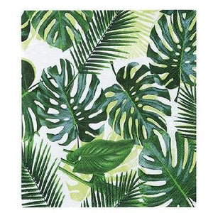 Talking Tables - Palm Print Cocktail Napkins (Pk20) - fst5-cnap-palm- The Original Party Bag Company