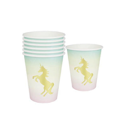 Talking Tables - Pastel Unicorn Paper Cups (Pk12) - unicorn-cup- The Original Party Bag Company