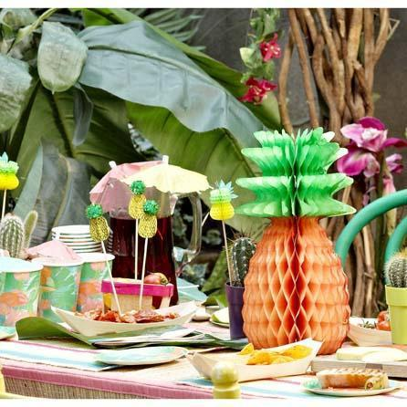Talking Tables - Pineapple Honeycombs (Pk3) - FST2-HONPINEAPPLE- The Original Party Bag Company