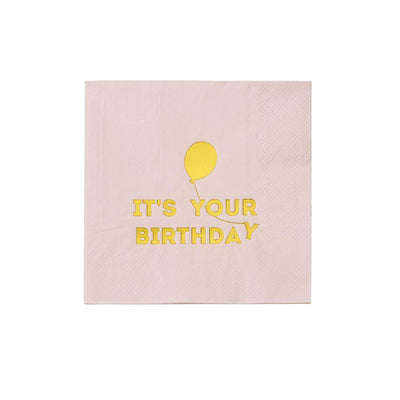 Talking Tables - Pink We Heart Birthdays Napkins (Pk16) - BDAY-NAPKIN-PNK- The Original Party Bag Company