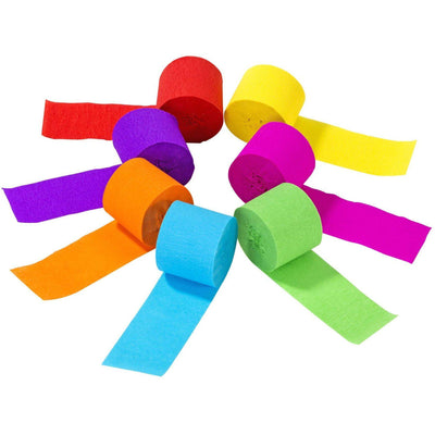 Talking Tables - Rainbow Streamers (Pk7) - RAIN-STREAMER- The Original Party Bag Company