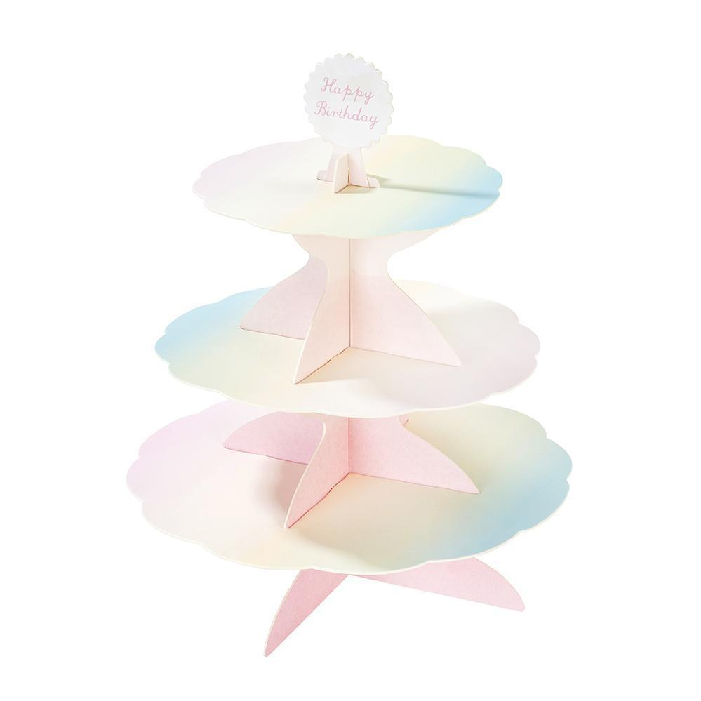 Talking Tables - Reversible Cakestand with 4 Toppers - pastel-cakestand- The Original Party Bag Company