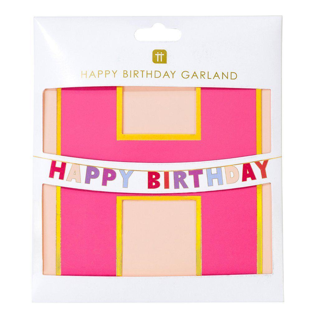 Talking Tables - Rose Happy Birthday Garland - ROSE-GARLAND-HB- The Original Party Bag Company