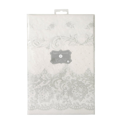 Talking Tables - Silver Tablecover Party Porcelain - PPS-TCOVER- The Original Party Bag Company