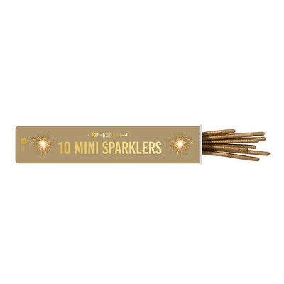 Talking Tables - Tube of Gold Mini Sparklers (Pk10) - pop-gldtubespark- The Original Party Bag Company