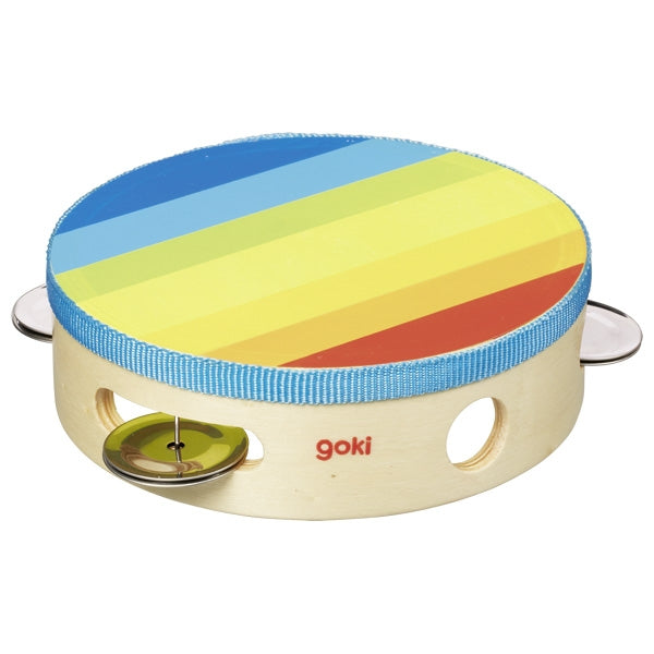 Multicoloured Wooden Tambourine