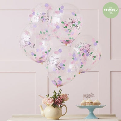 Confetti Filled Flower Balloons