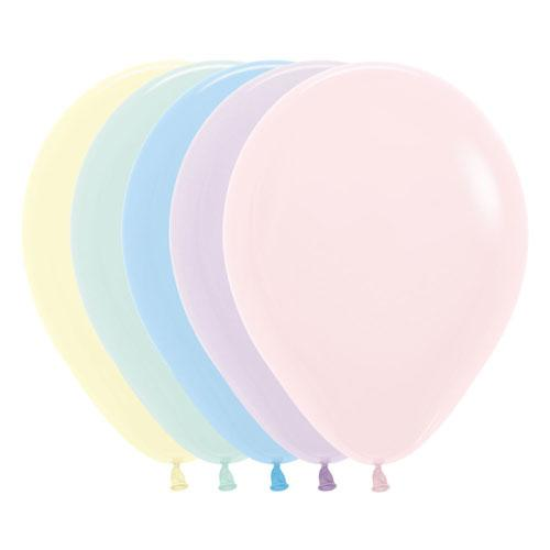 "The Original Party Bag Company - 12"" Chalk Pastel Mixed Balloons (Pk10) - pastelmix- The Original Party Bag Company"