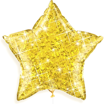 "The Original Party Bag Company - 18"" Iridescent Gold Star Balloon - TF03834- The Original Party Bag Company"