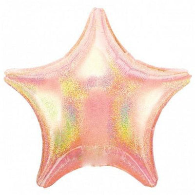 "The Original Party Bag Company - 18"" Iridescent Pale Pink Star Balloon - TF1763902- The Original Party Bag Company"