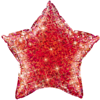 "The Original Party Bag Company - 18"" Iridescent Red Star Balloon - TF03839- The Original Party Bag Company"