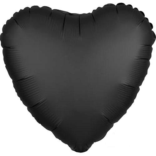 "The Original Party Bag Company - 18"" Satin Black Heart Balloon - 3803501- The Original Party Bag Company"