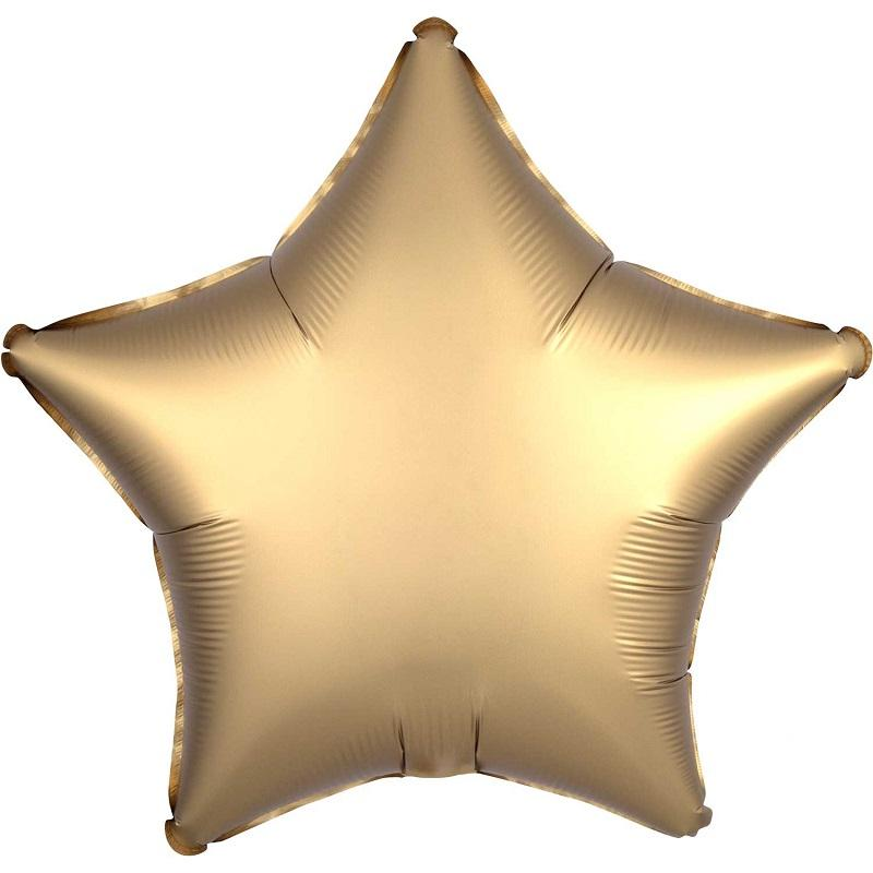 "The Original Party Bag Company - 18"" Satin Gold Sateen Star Balloon - 3680402- The Original Party Bag Company"