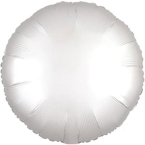 "The Original Party Bag Company - 18"" Satin White Round Balloon - 3858901- The Original Party Bag Company"