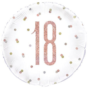 The Original Party Bag Company - 18th Birthday Rose Gold Foil Balloon - 84900- The Original Party Bag Company