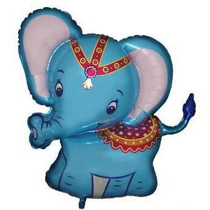 "The Original Party Bag Company - 26"" Blue Circus Elephant Balloon - circuselebl- The Original Party Bag Company"