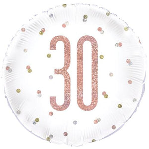 The Original Party Bag Company - 30th Birthday Rose Gold Foil Balloon - 84902- The Original Party Bag Company